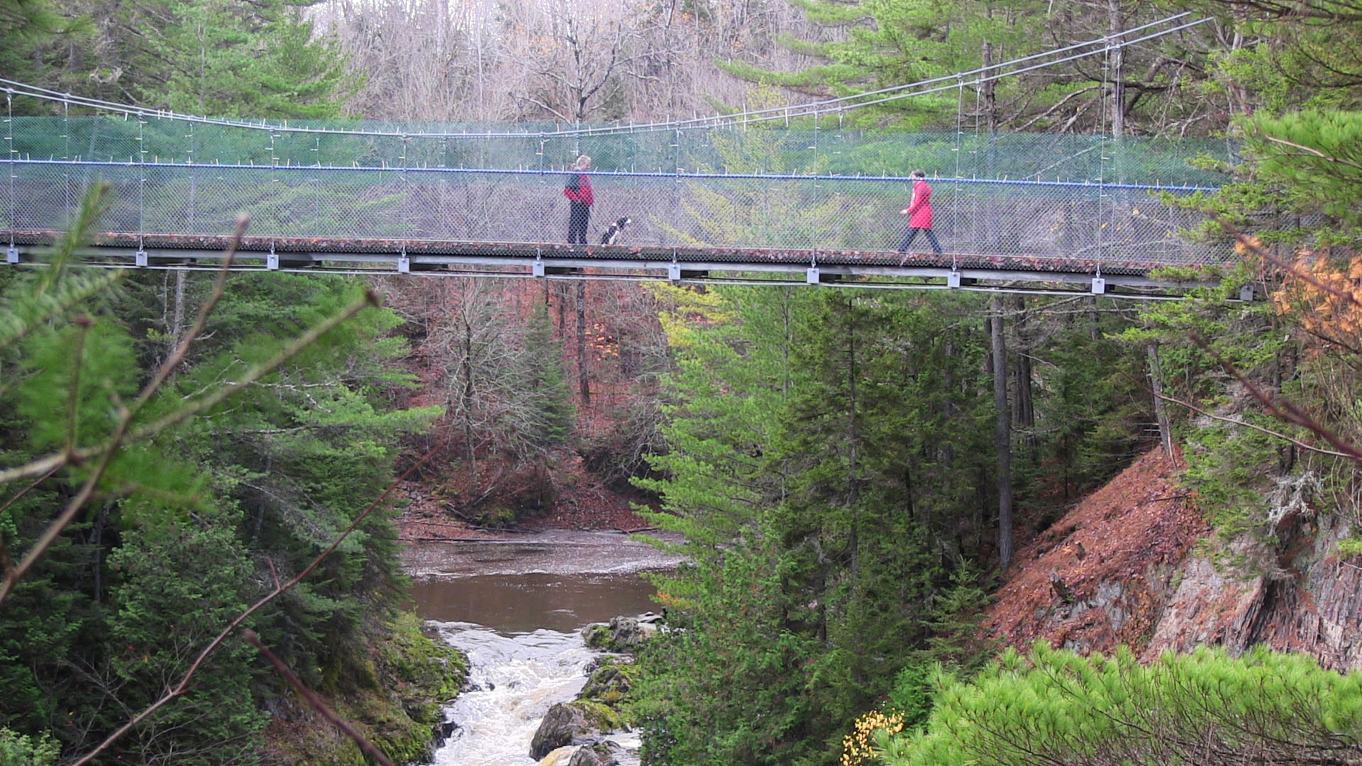 Photo des chutes no 7 et la passerelle.
